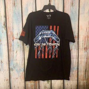 Merica Ride the Freedom T Shirt XL
